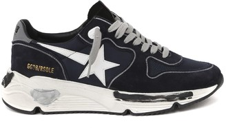 Golden Goose Runnig Sole Blue Suede & Nylon Sneaker