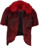 J. Mendel Striped Fur Jacket With Fox Trim