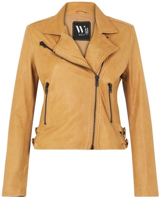 West 14th New Yorker Motor Jacket Malto Tan Leather