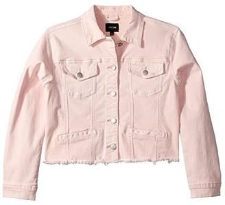Joe's Jeans Cropped Denim Jacket (Big Kids) (Bubble Gum) Girl's Coat