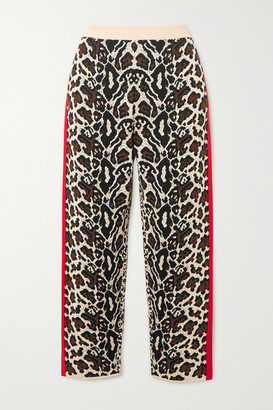 Stella McCartney Intarsia Knitted Track Pants - Leopard print