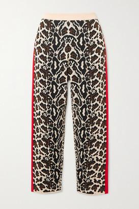 Stella McCartney Intarsia Knitted Track Pants - Leopard print