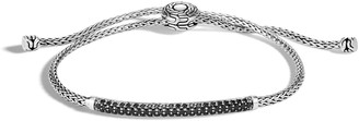 John Hardy Classic Chain Pull-Through Bracelet w/ Black Sapphire & Spinel