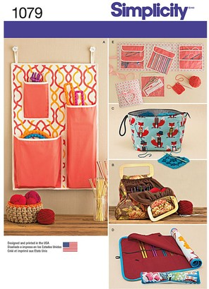 Simplicity Knitting and Crochet Storage Bag Sewing Pattern, 1079