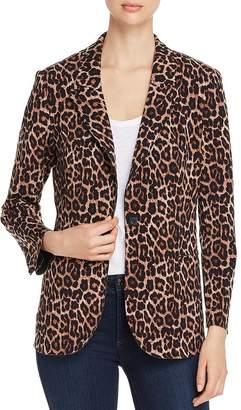 T Tahari Leopard-Print Knit Blazer