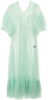 Supersweet X Moumi Tulle Dress In Mint Green