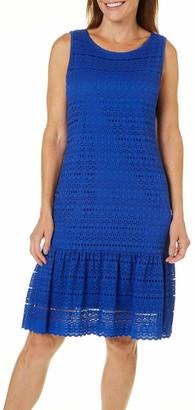Ronni Nicole Women's Sleevless Dropwaist Stretch lace Dress