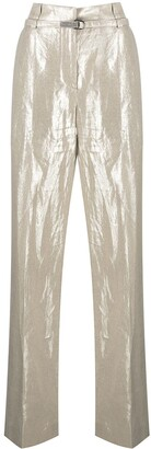 Brunello Cucinelli High-Waisted Straight Leg Trousers