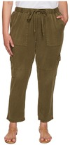 Lucky Brand Plus Size Solid Cargo Pants Women's Casual Pants