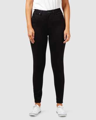 Jeanswest Freeform 360 Contour Curve Embracer High Waisted Skinny Jeans Black