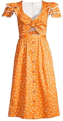 Azulu Serengeti Polka Dot Cutout Dress