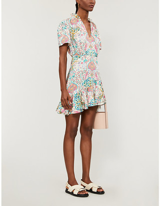 Sandro Irenn graphic-print woven midi dress