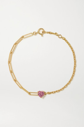 Yvonne Léon 18-karat Gold Tourmaline Bracelet - one size