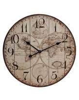 Fashion World World Map Wooden Wall Clock