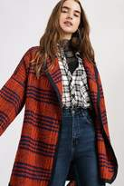 Urban Outfitters Blanket Wrap Plaid Coat