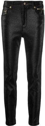 Versace Jeans Couture Skinny Glitter Trousers