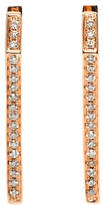 Eva Fehren Rose Gold Diamond Dagger Huggies Earrings