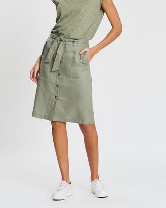 Sportscraft Josie Tie Linen Skirt