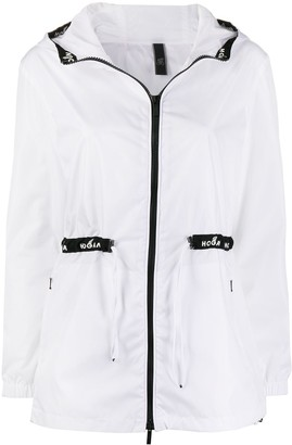 Hogan Drawstring Waist Hooded Parka