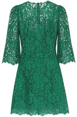 Dolce & Gabbana Floral lace minidress
