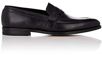 John Lobb Men's Adley Leather Penny Loafers - Black