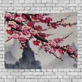 JSTEL Home Fashion Custom Apricot Flower Tapestry Wall Decor Living Room, Throw Bedspread, Dorm Tapestries DIY