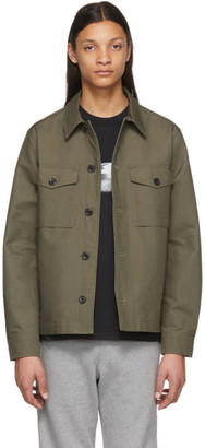 Paul Smith Khaki Military Shirt Jacket