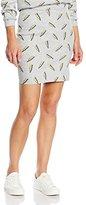 American Retro Women's Body con Skirt - Grey -