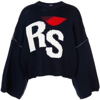 Raf Simons intarsia logo knitted jumper