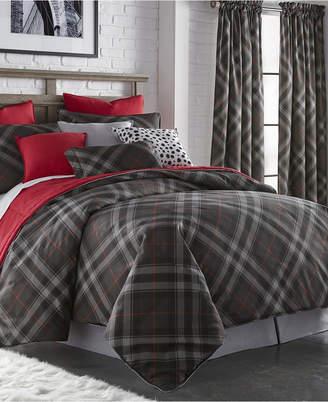Colcha Linens Max Plaid Duvet Cover Set-King Bedding