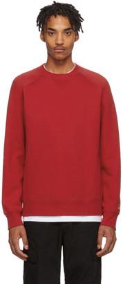 Carhartt Work In Progress Red Chase Sweatshirt
