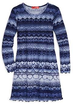 Aqua Girls' Snakeskin Print Swing Dress, Big Kid - 100% Exclusive