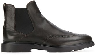 Hogan Brogue Detail Boots