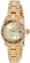 Invicta Women's 12527 Pro-Diver 18k Ion-Plated Stainless Steel and Champagne Dial Bracelet Watch