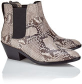 Rag & Bone Grey Python Leather Ankle Boots