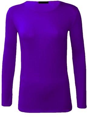 Momo&Ayat Fashions Ladies Jersey Long Sleeve Round Neck Basic T-Shirt Top UK Size 8-26 (Stone 2XL (UK 20-22))