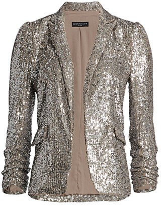 Generation Love Serafina Sequin Puff-Shoulder Blazer