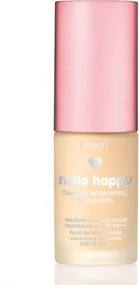 Benefit Cosmetics Hello Happy Flawless Brightening Foundation Mini Spf15 10Ml 2 Light Warm