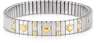 Nomination Amore Stainless Steel w/Golden Heatrs Women's Bracelet