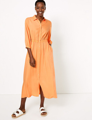 Marks and Spencer Midi Waisted Shirt Dress