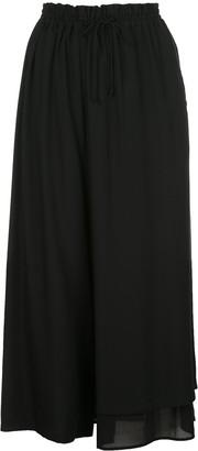 Y's Asymmetric Maxi Skirt