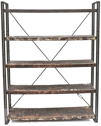 Moti Reclaimed Wood And Metal Book Shelf