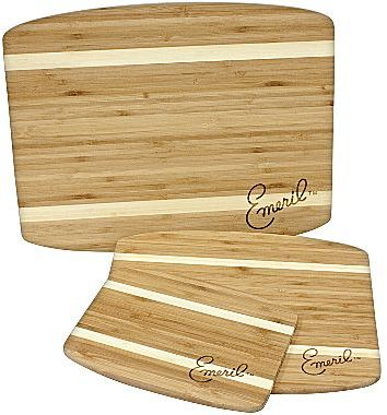 Emerilware Emeril® 3-pc. Striped Bamboo Wood Cutting Board Set