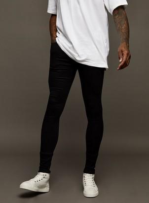 Topman Black Super Spray On Skinny Jeans
