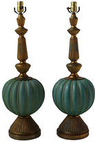 One Kings Lane Vintage,  Turquoise/gold, In Stock