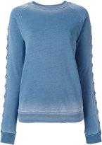 Balmain lace-up sleeve sweatshirt