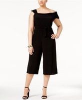 Love Squared Trendy Plus Size One-Shoulder Jumpsuit