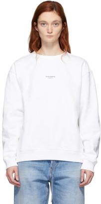 Acne Studios White Reverse Logo Sweatshirt