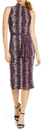 Rachel Roy Kiki Snake Print Sleeveless Dress