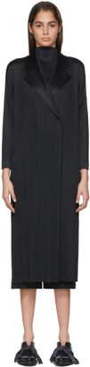 Pleats Please Issey Miyake Black Pleated Mannish Coat